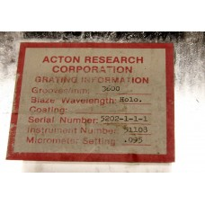 Diffraction Grating 3600 Grooves mm  Acton Research
