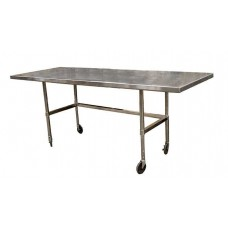 Stainless steel table on rollers 14113