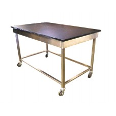 Heavy Duty Lab epoxy resin table with SS frame Wheeles 13113