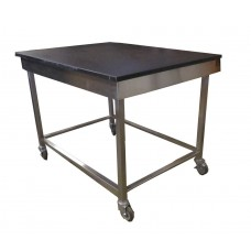 Lab epoxy table with stainless steel frame 13112